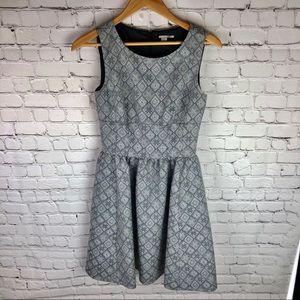 Halogen Fit and Flare Jacquard Print Dress